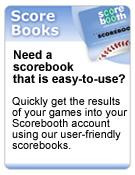 Easy-to-use baseball and softball scorebooks